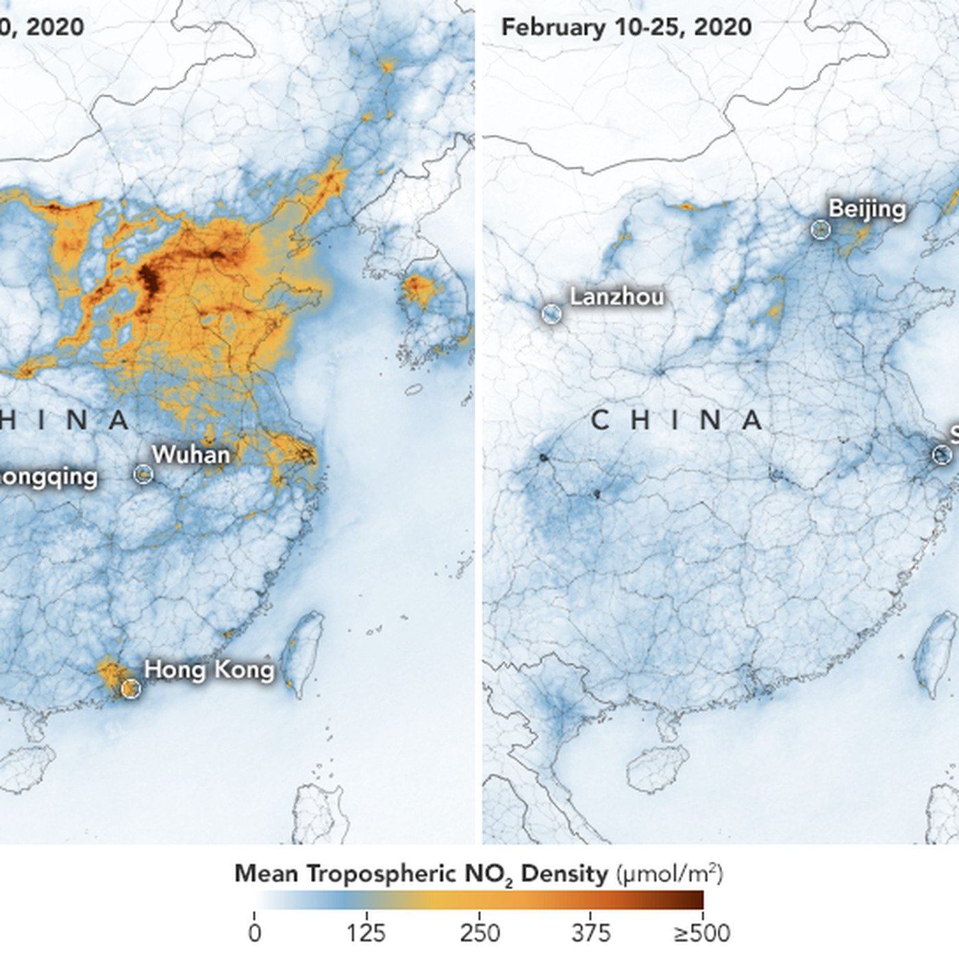 Picture of: Maps Show Drastic Drop In China S Air Pollution After Coronavirus Quarantine The Verge