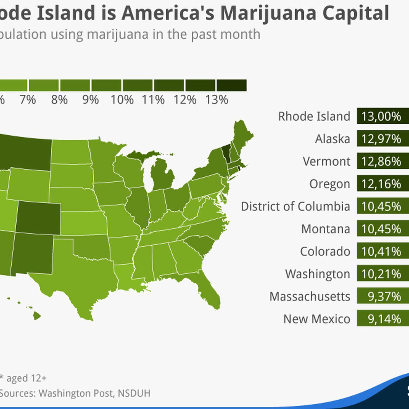 Capital Of Oregon Map.Map America S Marijuana Capital May Surprise You Vox