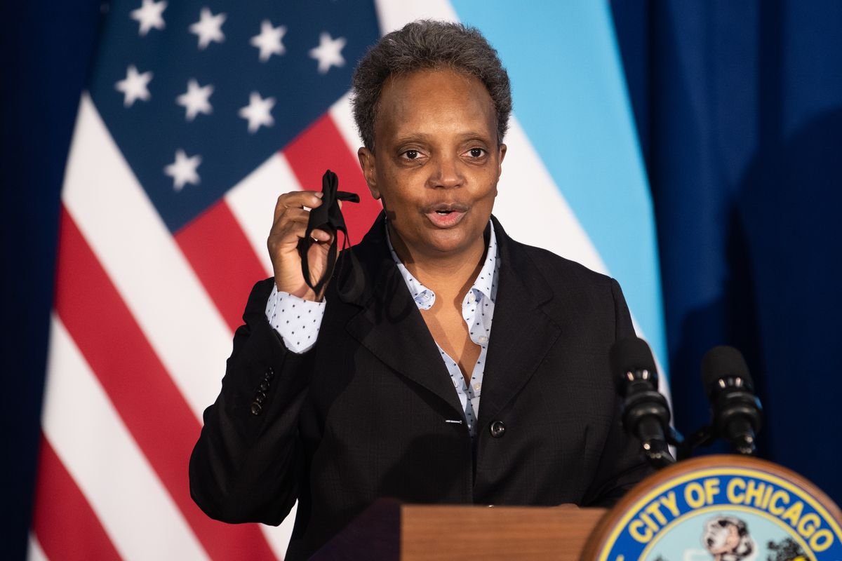 Chicago Mayor Lori Lightfoot, pictured at a Nov. 5 news conference.
