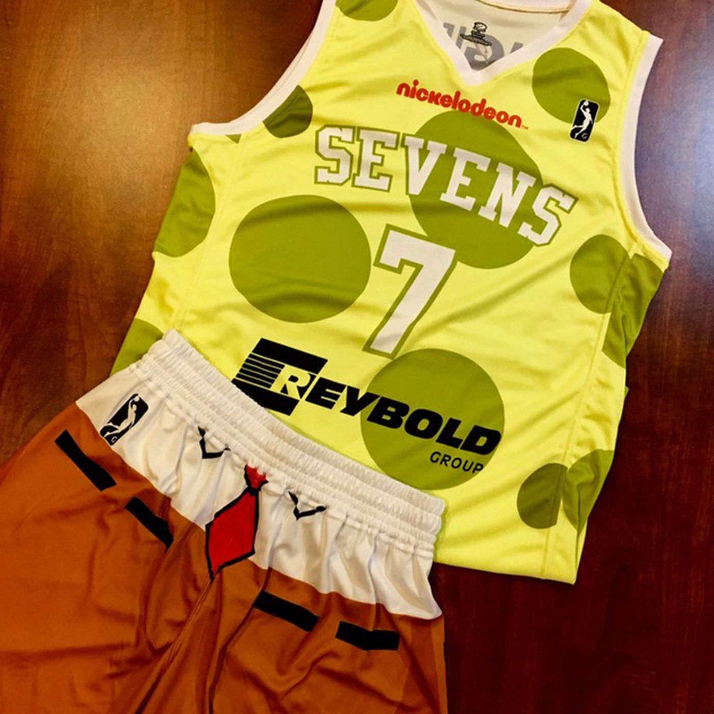 c089a42f224 The Sixers  G-League team is wearing Spongebob uniforms for Nickelodeon  night - SBNation.com