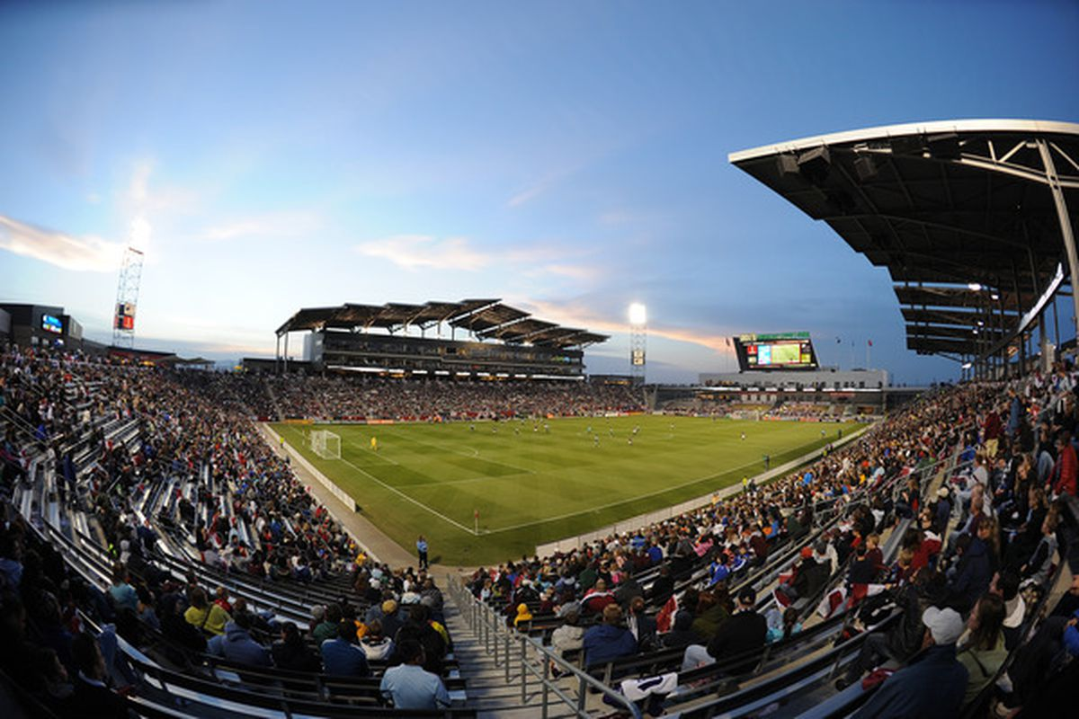 COMMERCE CITY, CO - MARCH 19: Dicks Sporting Goods stadium during the game of the Colorado Rapids v the Portland Timbers on March 19, 2011 at Dicks Sporting Goods Park in Commerce City, Colorado.  (Photo by Bart Young/Getty Images)