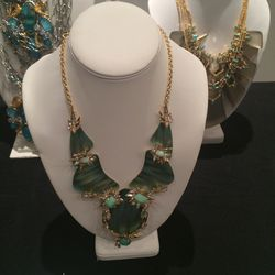 Green necklace, $250
