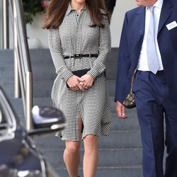 In a Ralph Lauren shirtdress at London's Anna Freud Centre on September 17th, 2015.