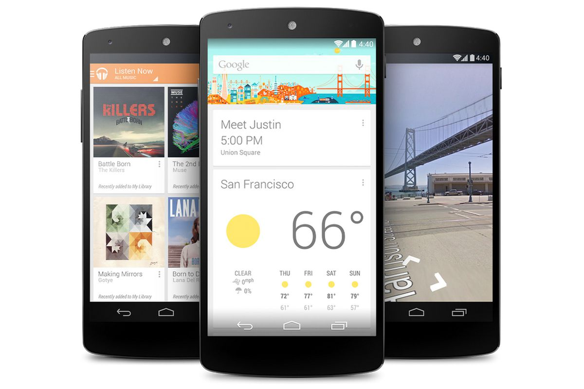 Nexus 5 Google Now KitKat PRESS