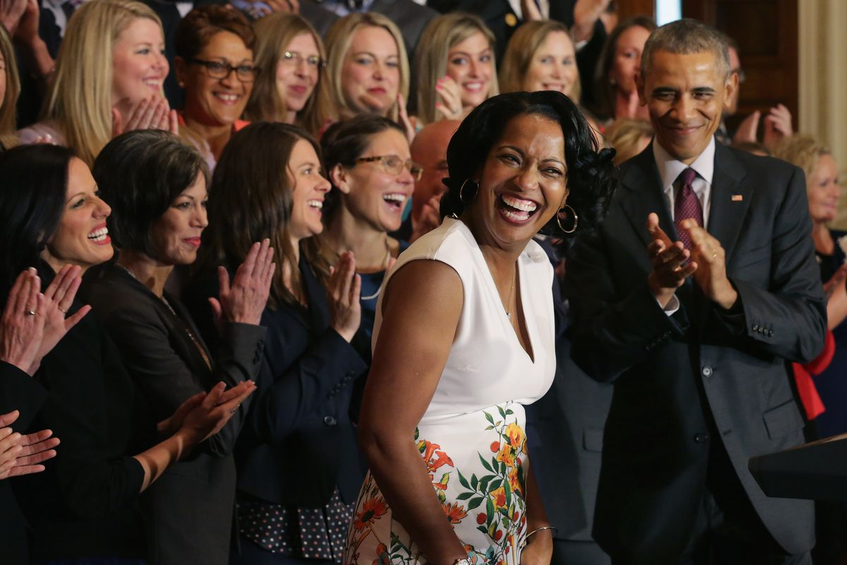 President Obama Honors The 2016 National Teacher Of The Year Finalist Jahana Hayes At The White House