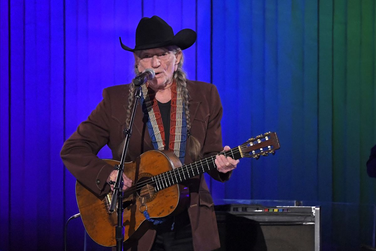 """Willie Nelson performs """"The Rainbow Connection"""" at the 53rd annual CMA Awards at Bridgestone Arena, Wednesday, Nov. 13, 2019, in Nashville, Tenn."""