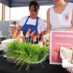Lee Anne Wong's bacon on a stick