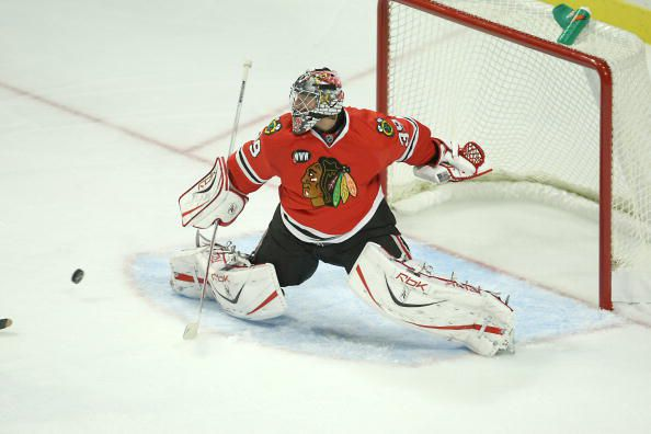Nikolai Khabibulin's career in Chicago had its ups and downs. (Courtesy of Jonathan Daniel/Getty Images)