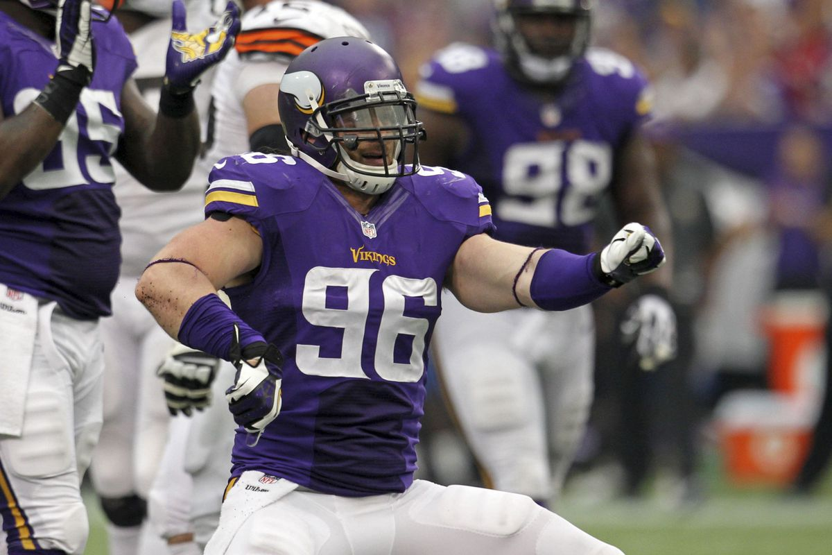 Brian Robison goes from the kid to veteran leader this year