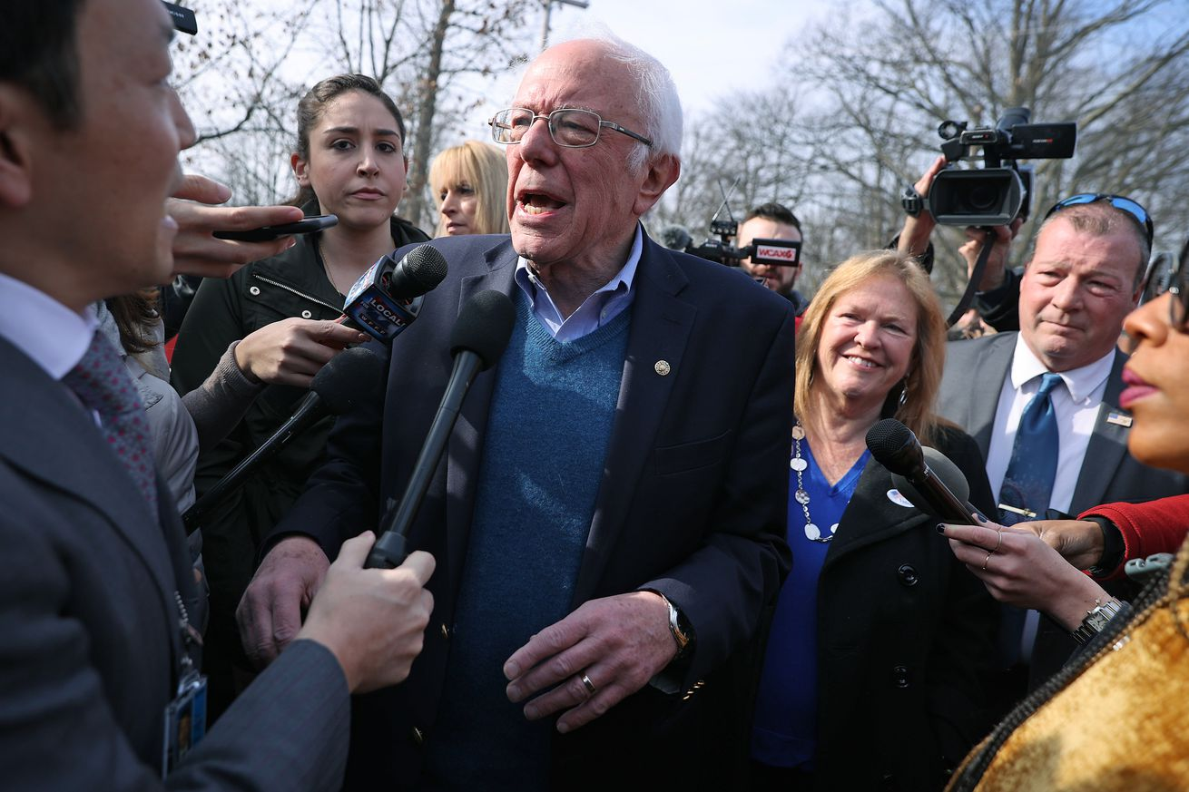 Presidential Candidate Bernie Sanders Votes In Vermont Primary On Super Tuesday