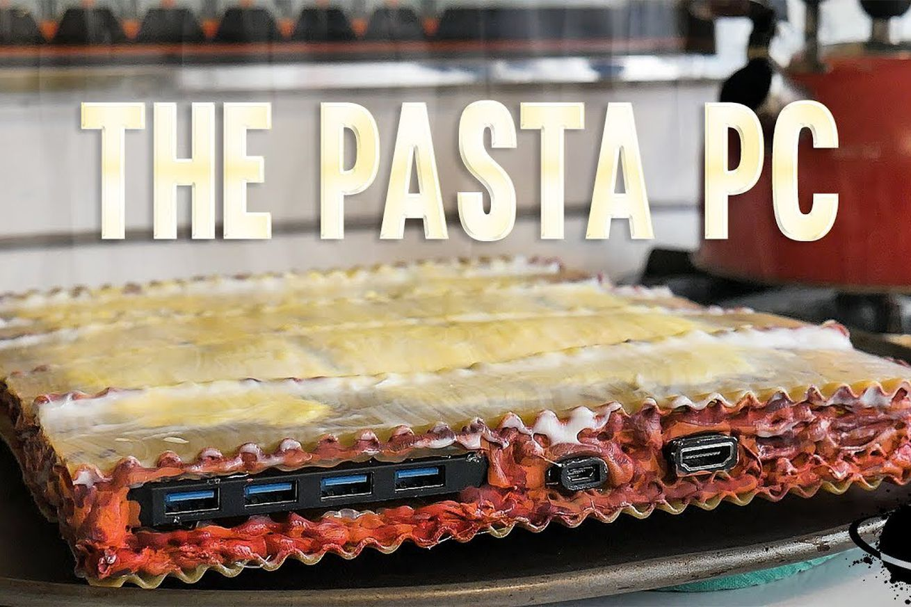 stop what you re doing and gaze upon this pc made out of pasta