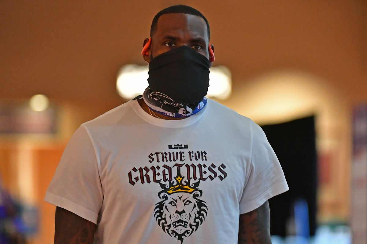 LeBron James on July 21, 2020, in Orlando.