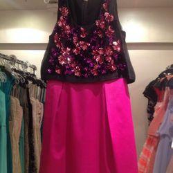 Embellished layered dress, $165
