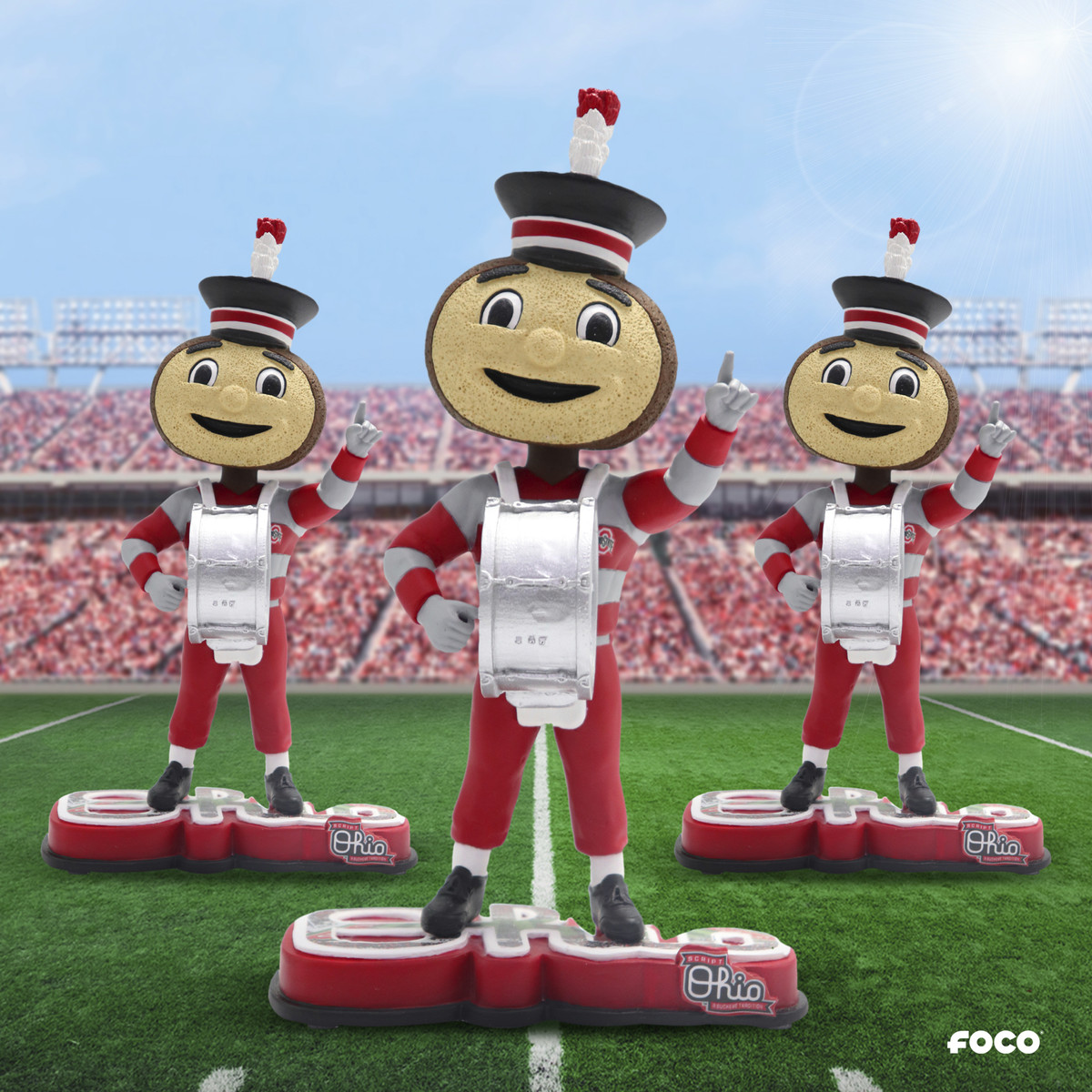 Ohio State bobblehead from FOCO combines Brutus Buckeye, marching band