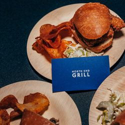 Floyd Cardoz's crispy short rib slider with cabbage slaw, Tabasco® SWEET & Spicy Sauce and chips
