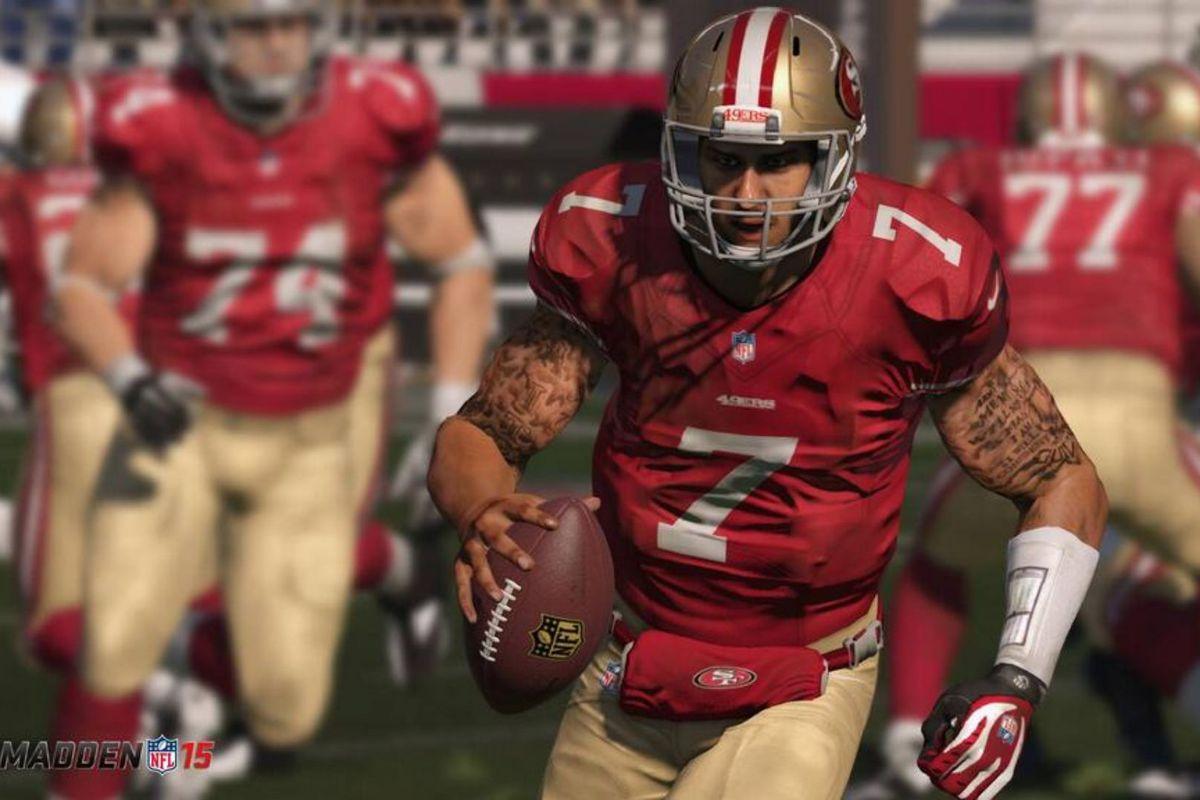 Madden NFL 15 - Colin Kaepernick of the San Francisco 49ers scrambling