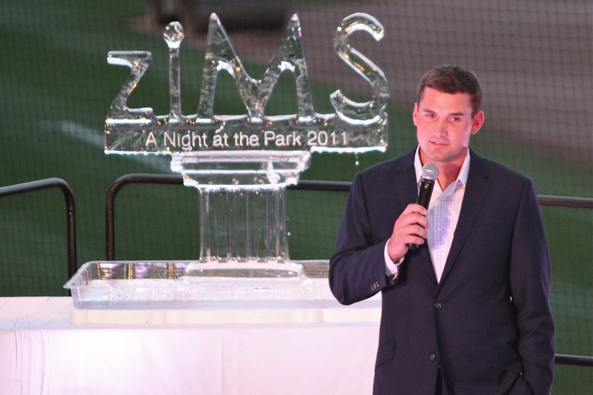 """Ryan Zimmerman held the second annual ziMS Foundation A Night At The Park 2011 event last night in Nationals Park. (photo © and courtesy of <a href=""""http://twitter.com/#!/cnichols14"""" target=""""new""""><strong>Cheryl Nichols @cnichols14.</strong></a>"""