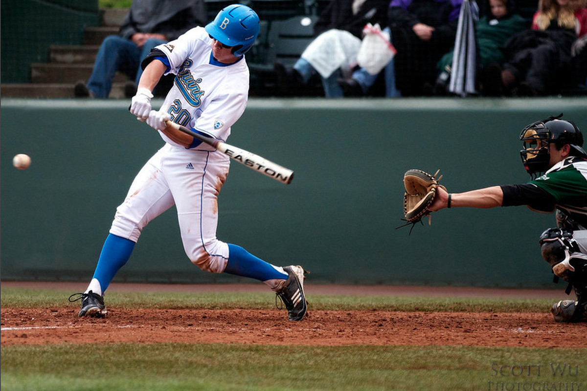 """Jeff Gelalich hit his third homer of the year in the UCLA win (Photo Credit: <a href=""""http://www.scottwuphotography.com"""" target=""""new"""">Scott Wu</a>)"""