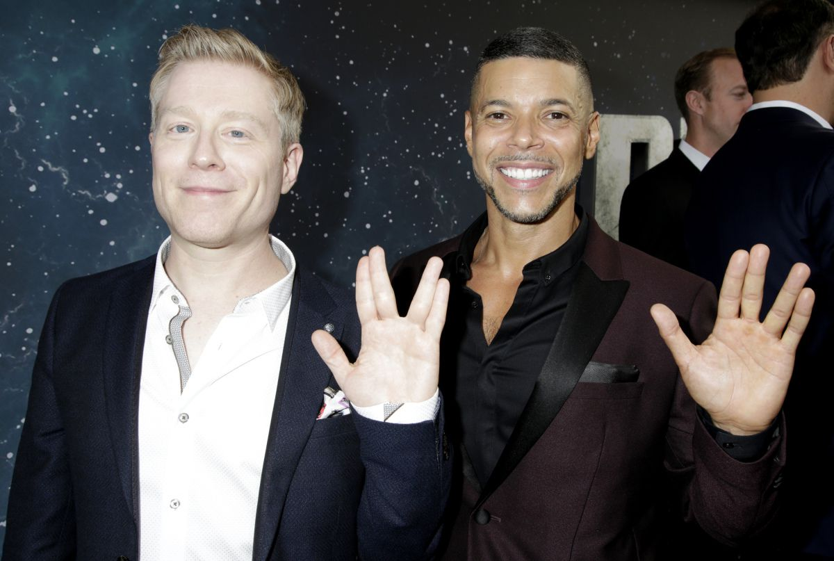 Anthony Rapp and Wilson Cruz at the premiere of Star Trek: Discovery.