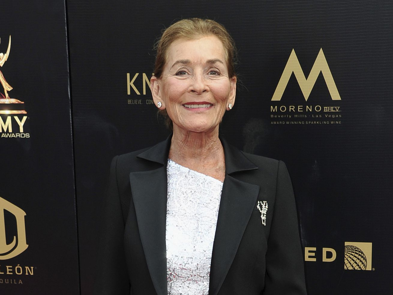 Judge Judy Sheindlin arrives at the 46th annual Daytime Emmy Awards in Pasadena, California, in 2019.