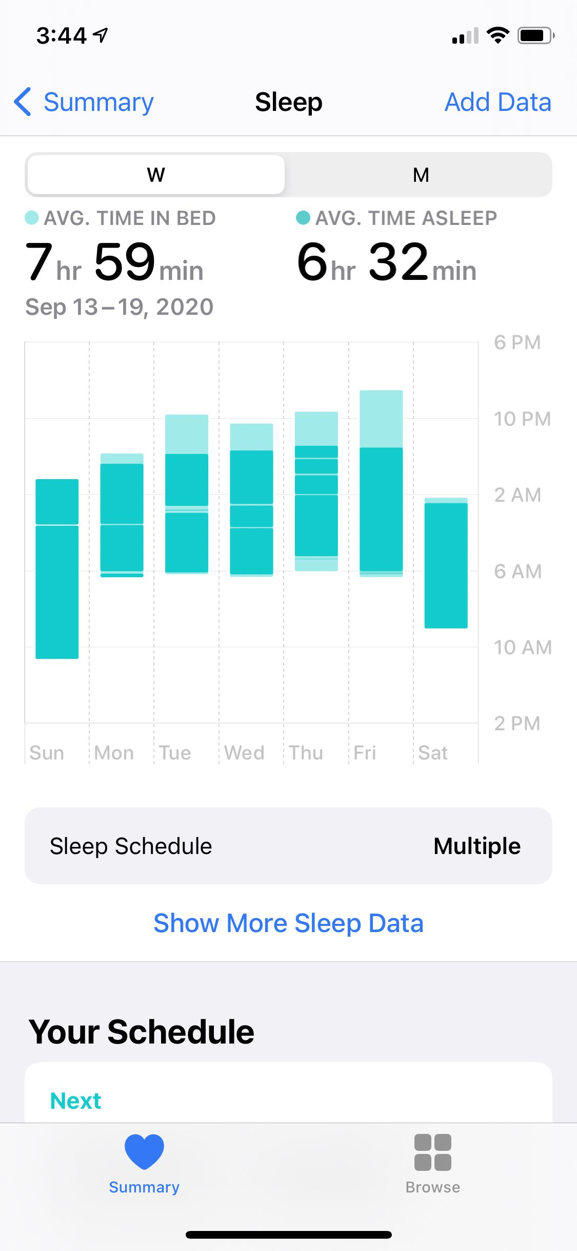 The new sleep tracking feature doesn't provide a ton of data.