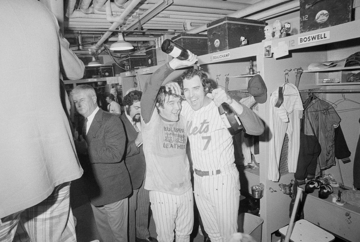 Tug McGraw and Ed Kranepool Celebrate