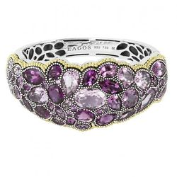 """<a href=""""https://www.lagos.com/product.php?pid=869?id=Amethyst-Gemstone-Bracelet"""">Ombre Amethyst Gemstone Bracelet</a>, $5500. All prices are pre-discount."""