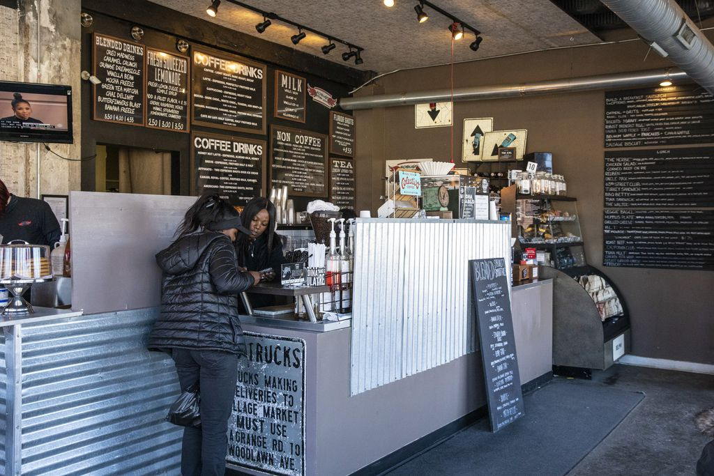 """Robust Coffee Lounge, 6300 S. Woodlawn Ave. has been a success, but co-owner Jake Sapstein said a Jewel-Osco that opened nearby recently is helping to drive even more customers to the business. """"It's been great for us and for the neighborhood."""" 