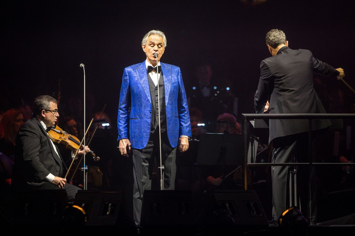 Andrea Bocelli performs at Vivint Arena in Salt Lake City on Thursday, Nov. 29, 2018. Bocelli will perform a special Easter concert in Milan's Duomo Cathedral.