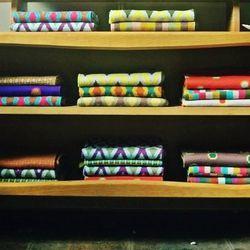 Stadler-Kahn scarves are knitted in New York City from Italian merino wool.