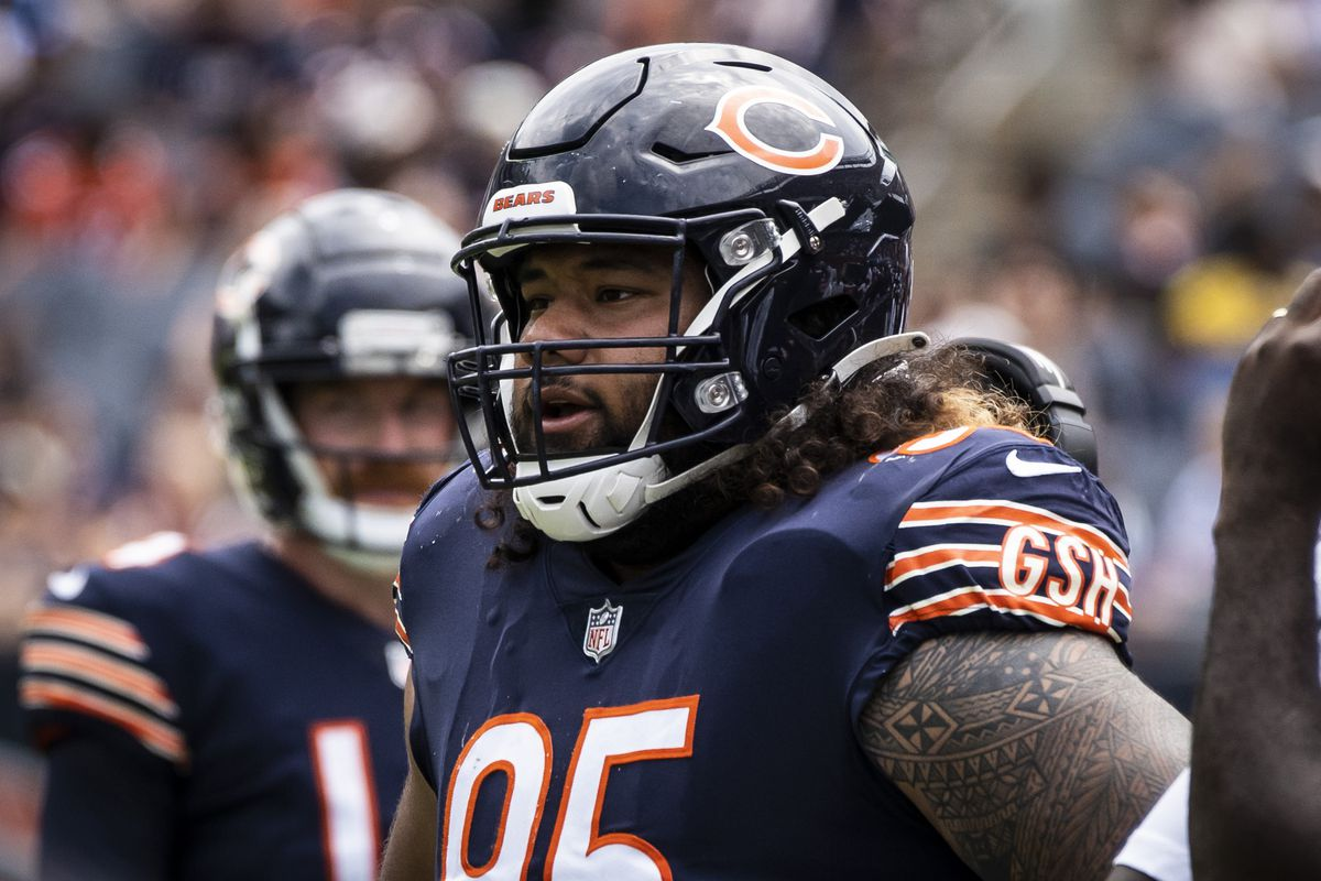 Bears rookie nose tackle Khyiris Tonga had five tackles against the Browns last week. Tonga is playing in place of injured starter Eddie Goldman.