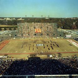 1969-Halftime at Doak Campbell Stadium during Seminoles game against the Wolfpack in Tallahassee.