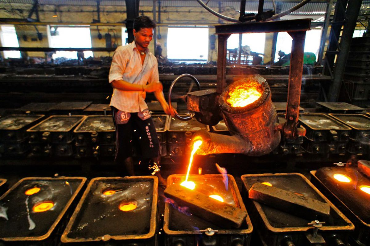 A foundry in Hyderabad, India.