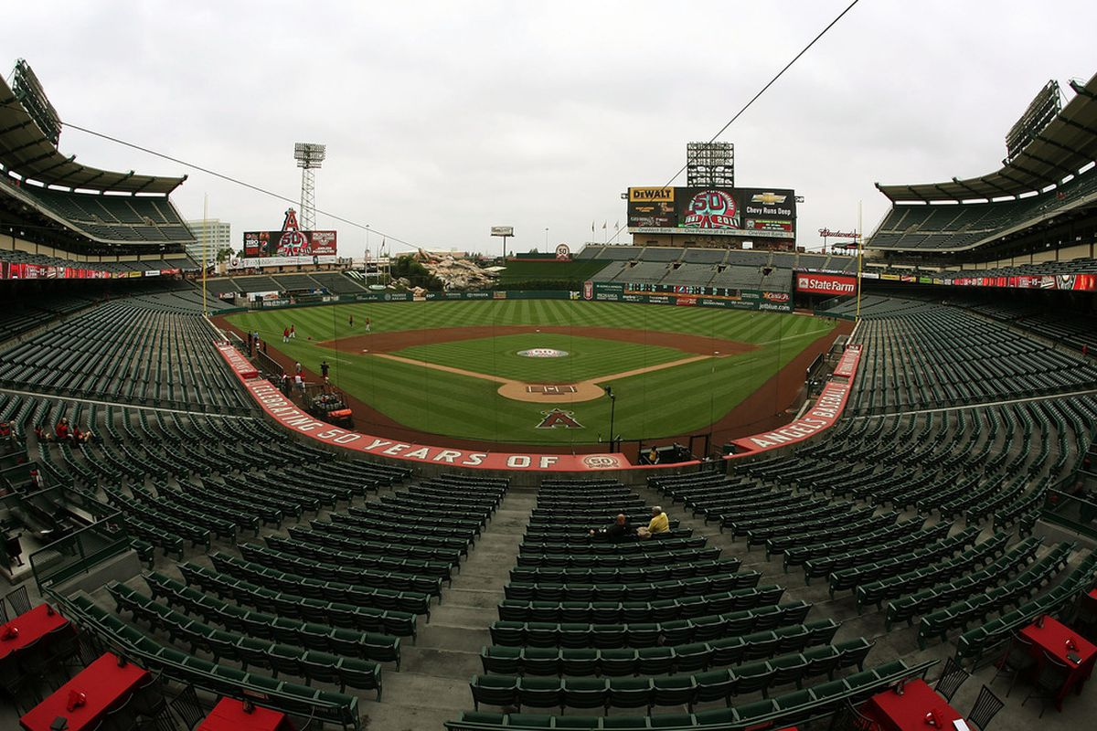 View of Angels Stadium for 2012 Playoffs. E-M-P-T-Y.