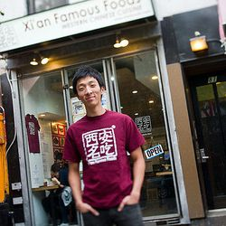"""Jason Wang, President of Xi'an Famous Foods in New York. [Photo by <a href=""""http://www.nycfoodphotographer.com"""">Daniel Krieger</a>]"""