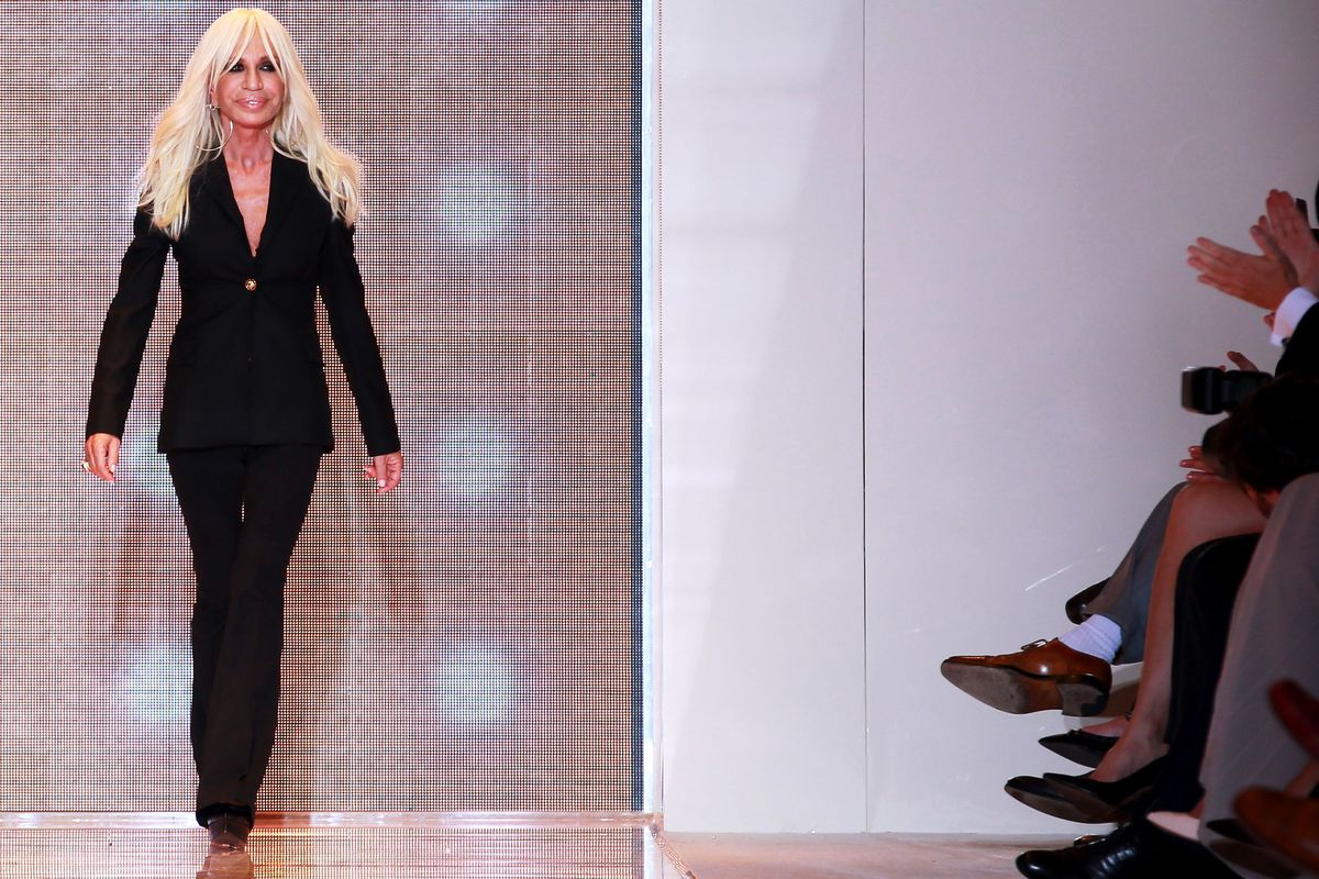 Versace doesn't see tacky, or color, via Getty