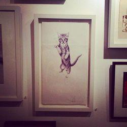 "Langley Fox's cat art. Photo via <a href=""http://instagram.com/p/jnadHaROrq/""target=""_blank"">@langleyfox</a>."