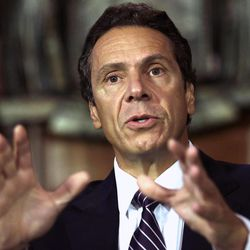 FILE- In this Sept. 19, 2012, file photo, New York Gov. Andrew Cuomo speaks during a news conference in the Red Room at the Capitol in Albany, N.Y. Accusations of sexual harassment that emerged over the summer have unraveled in public before a state ethics committee, revealing more sexual misconduct accusations against an assemblyman and a secret six-figure payoff to the accusers with taxpayer money that was approved by one of the most powerful lawmakers in the state.