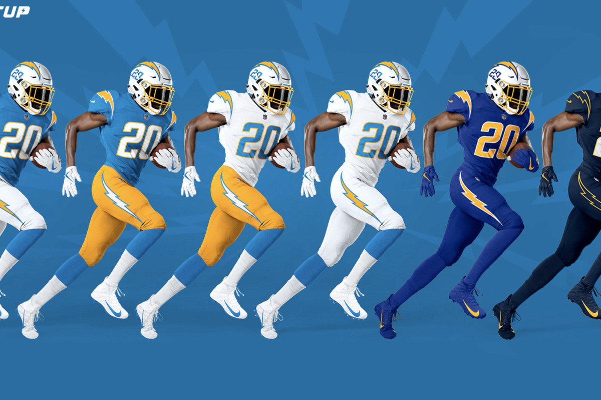 Chargers Discussion: Which new uniform combinations are the best ...
