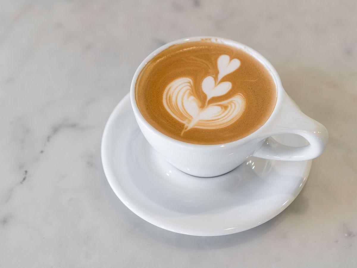 Latte at Zen Coffee Bar
