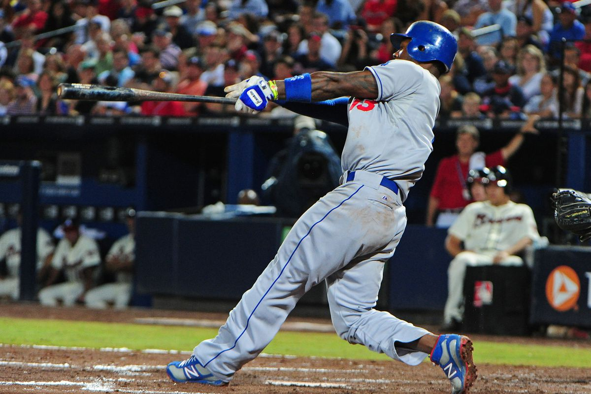 Hanley Ramirez doubled his Dodger home run total on Saturday.