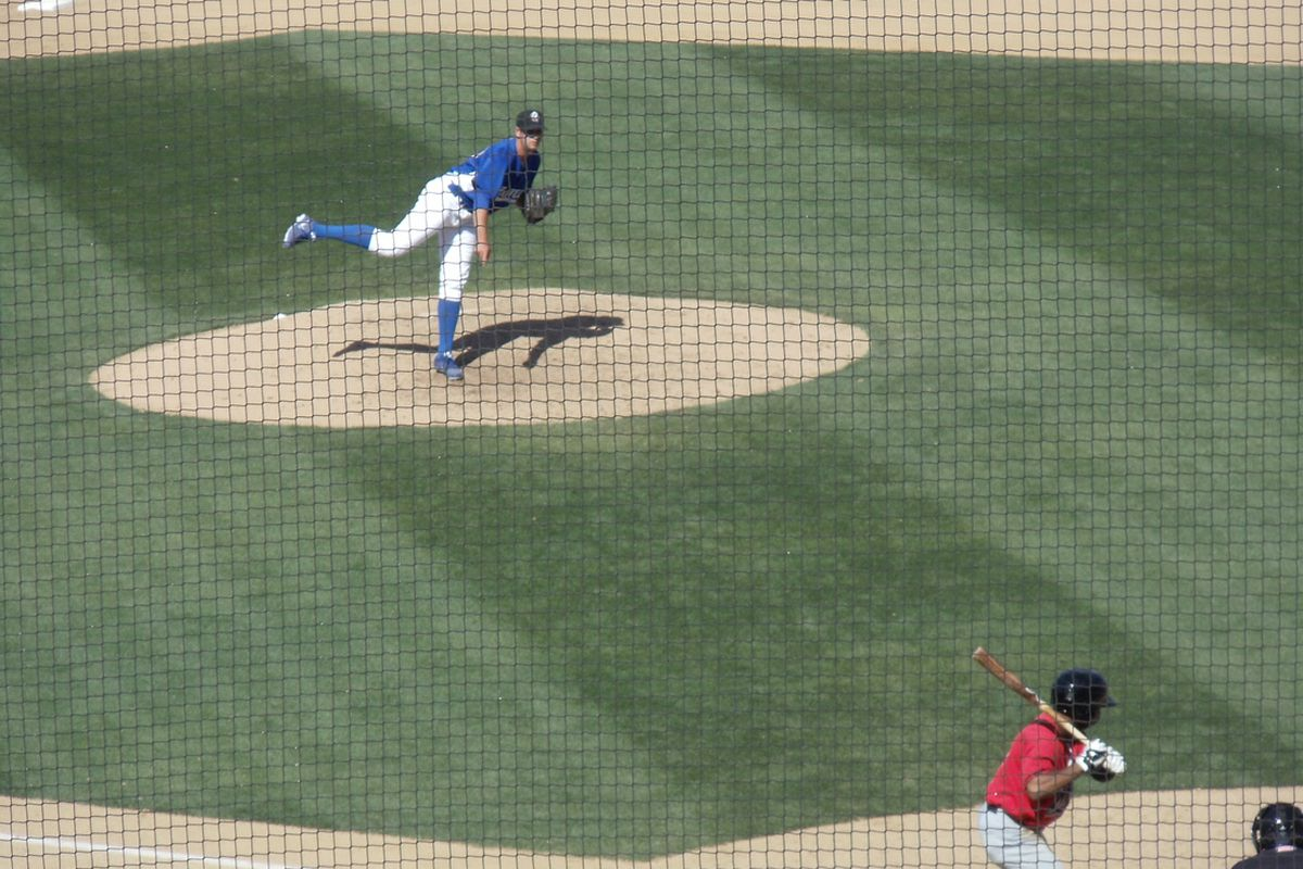Craig Stem throwing for the Quakes in 2013