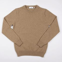 """<strong>AMI</strong> Crewneck Sweater in Beige <a href=""""http://carsonstreetclothiers.com/crewneck-sweater.html"""">$125</a> (reg. $250) at Carson Street Clothiers"""