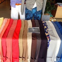 """Bonobos' washed chinos (<a href=""""http://www.bonobos.com/b/mens-pants""""target=""""_blank"""">$88</a>) are a mega bestseller. They come in every color of the rainbow."""
