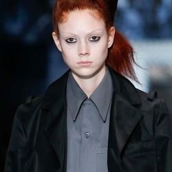 Loving the ponytails Guido Palau clipped to one side at Prada's menswear show. If my hair is ever long enough to recreate this look, consider it done.
