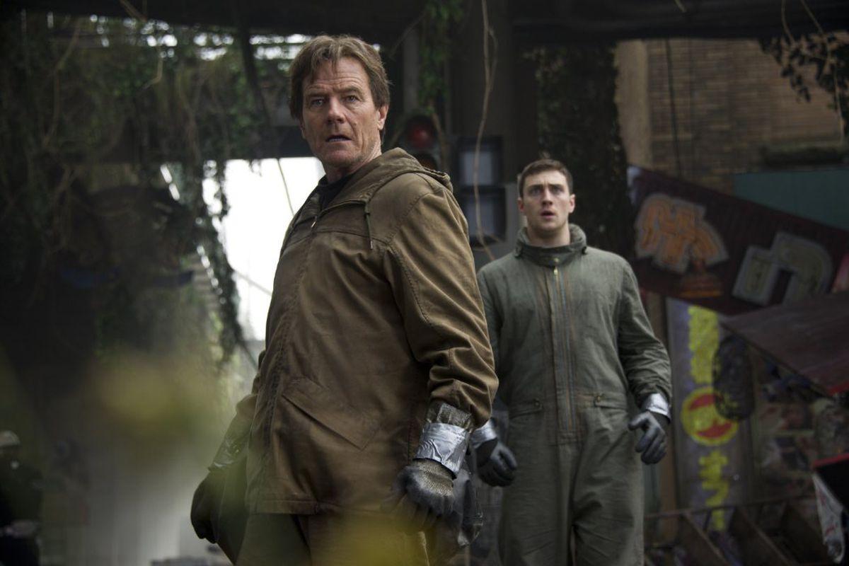 A still from the upcoming Godzilla movie.