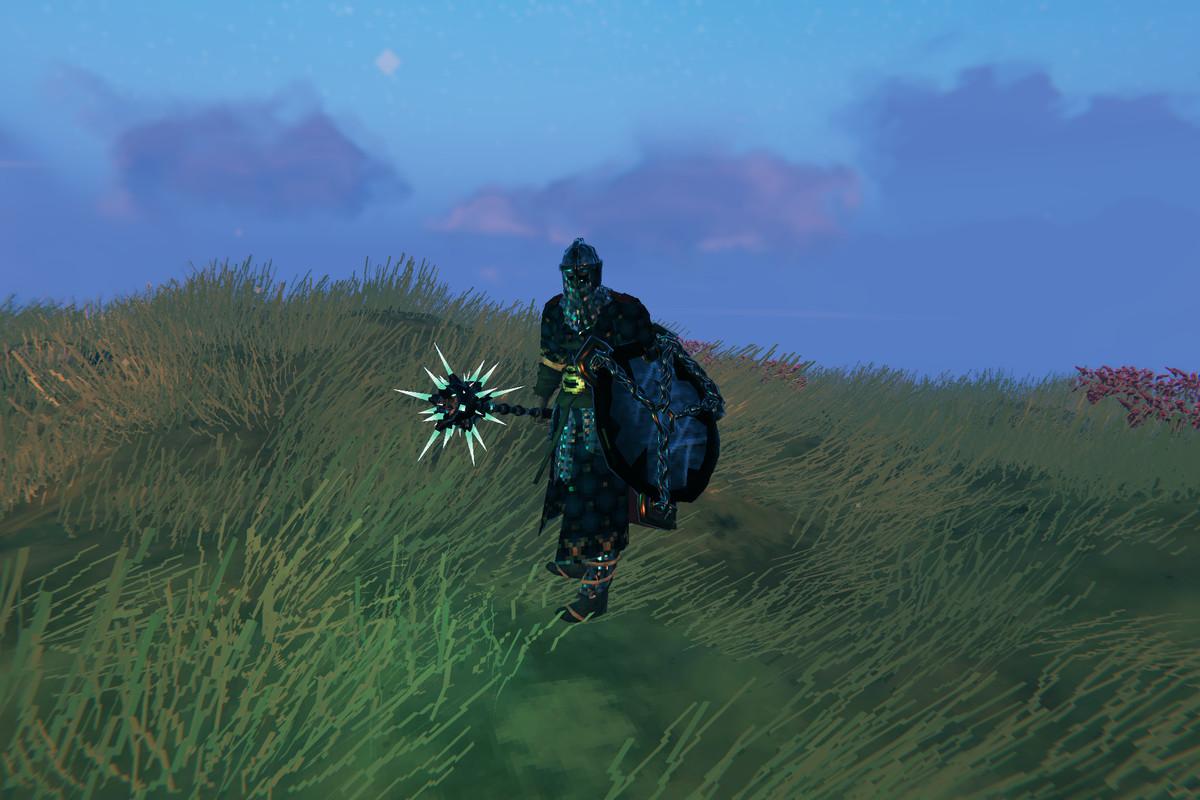 Valheim padded armor black metal weapons