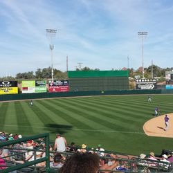 Wide view of the outfield -