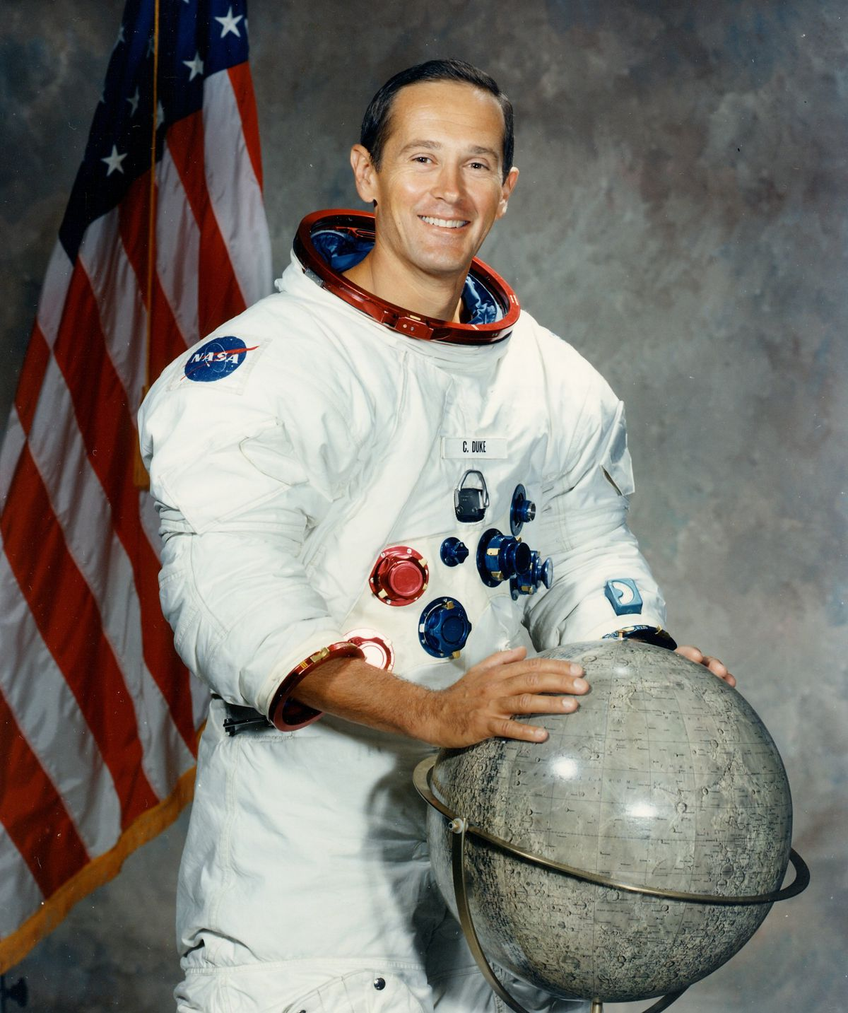 Apollo 16 astronaut Charlie Duke in 1972 became the youngest person to walk on the moon.