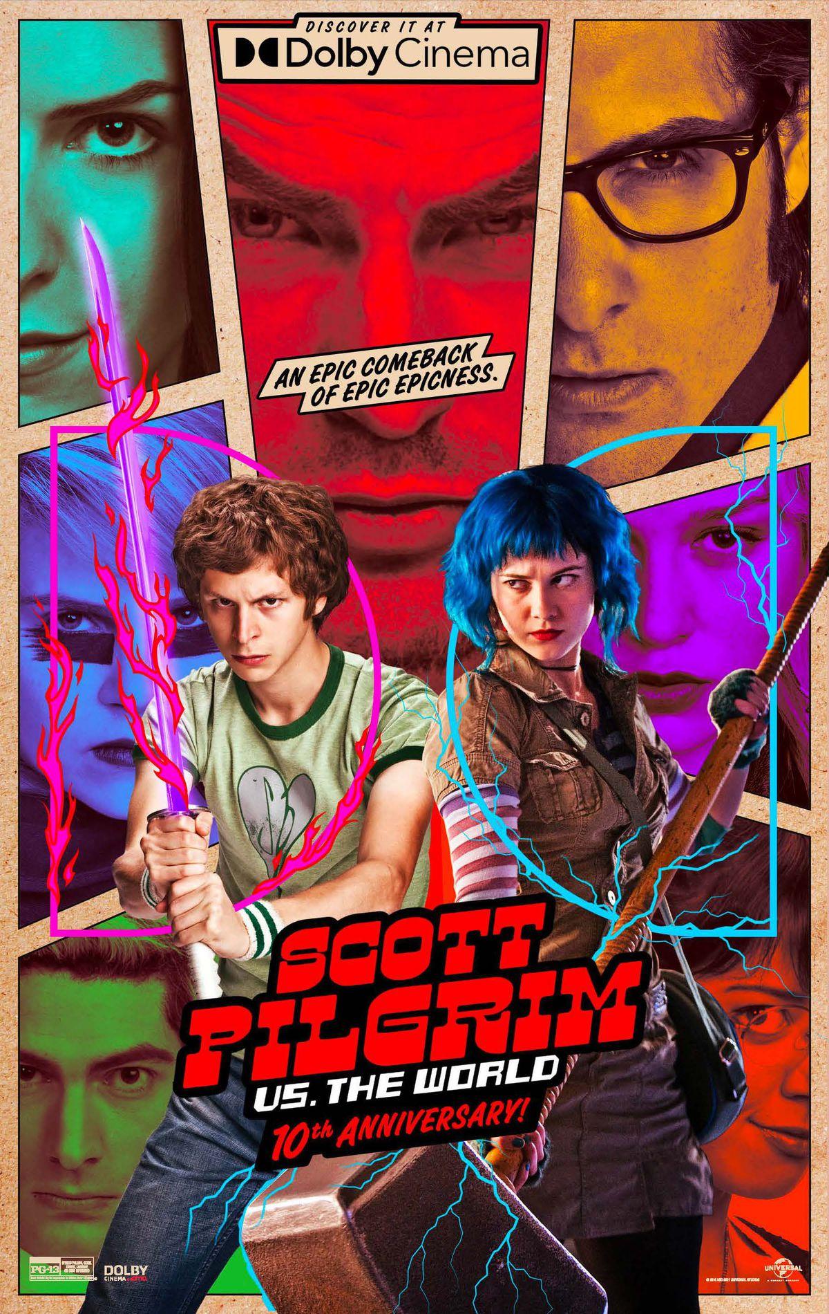 The Dolby Cinemas re-release post for Scott Pilgrim vs. The World